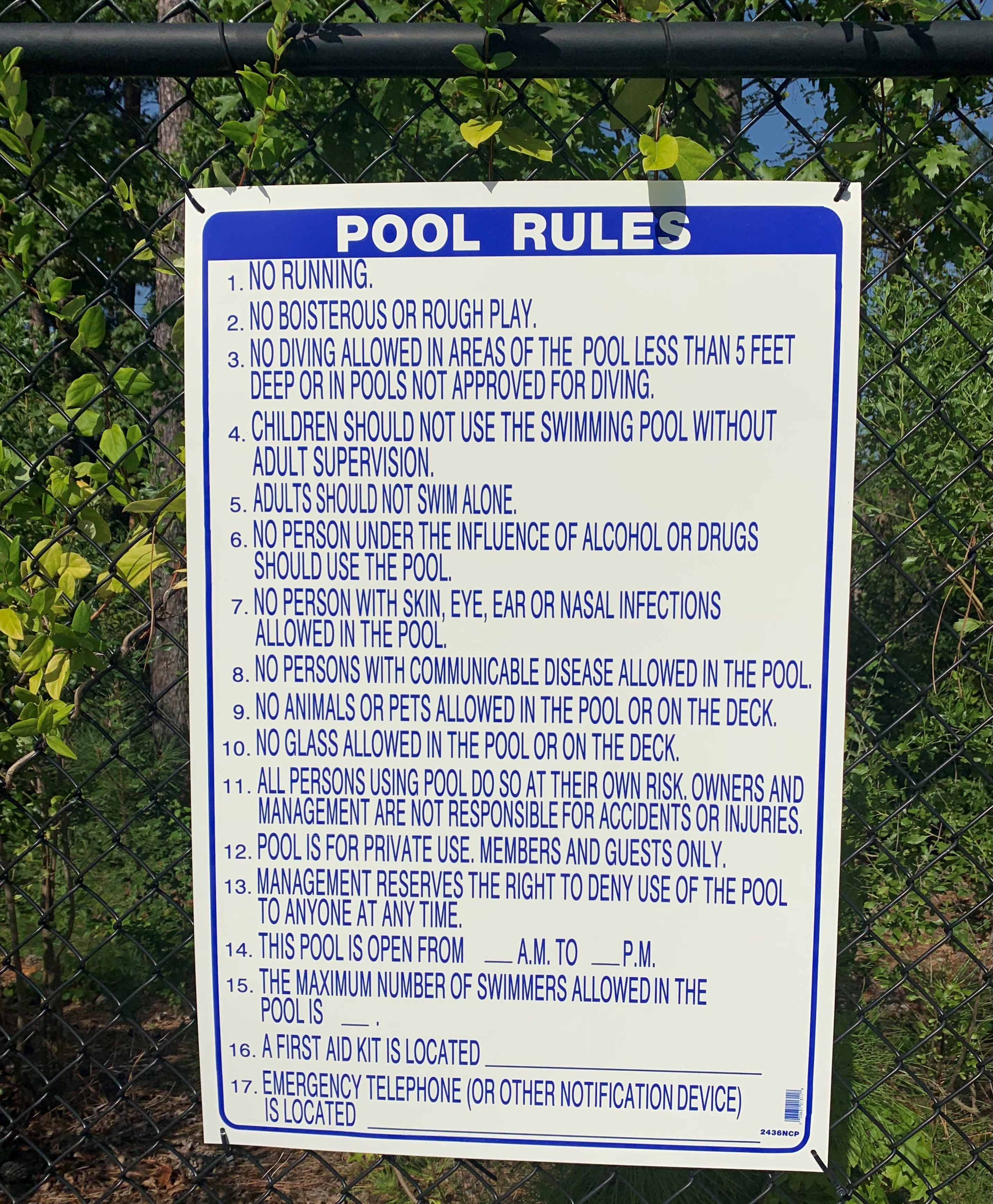 The Pool of Life Rules